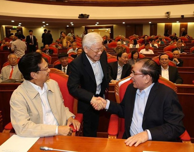 Hình ảnh Ban Bí thư TW Đảng gặp mặt cán bộ lãnh đạo nghỉ hưu - Ảnh 1.