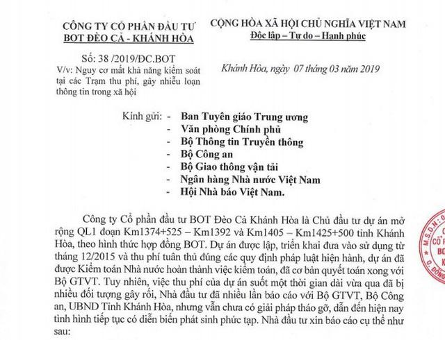 Nhà đầu tư BOT Ninh Lộc kiến nghị nóng: Mời Bộ Giao thông kiểm tra trạm, chính quyền, người dân giám sát - Ảnh 2.