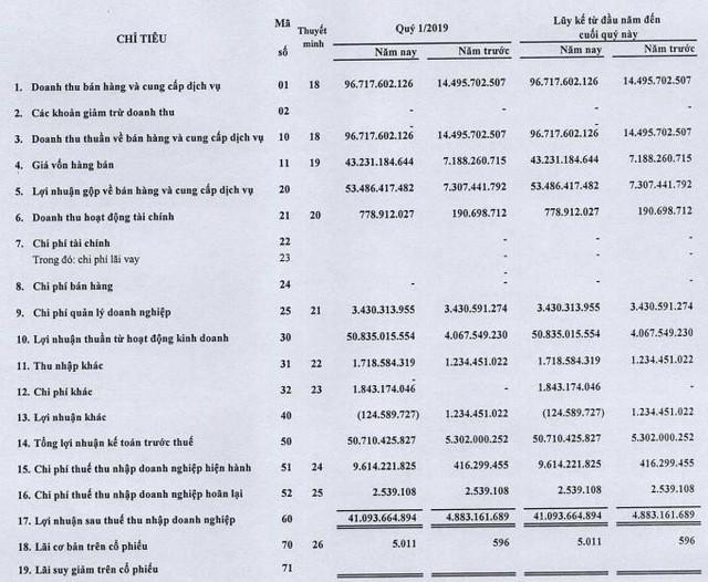 Nhờ dự án Bàu Xéo, Thống Nhất (BAX) lãi quý 1/2019 cao gấp 8 lần cùng kỳ - Ảnh 1.