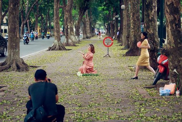 Phố phường Hà Nội đẹp nao lòng mùa lá rụng - Ảnh 4.