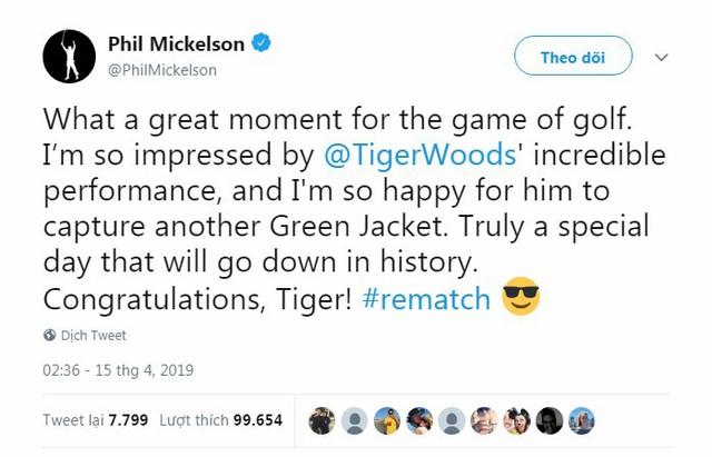 Tổng thống Trump, Obama và hàng loạt ngôi sao hân hoan chúc mừng chiến thắng của huyền thoại golf Tiger Woods trong giải Master 2019 - Ảnh 4.