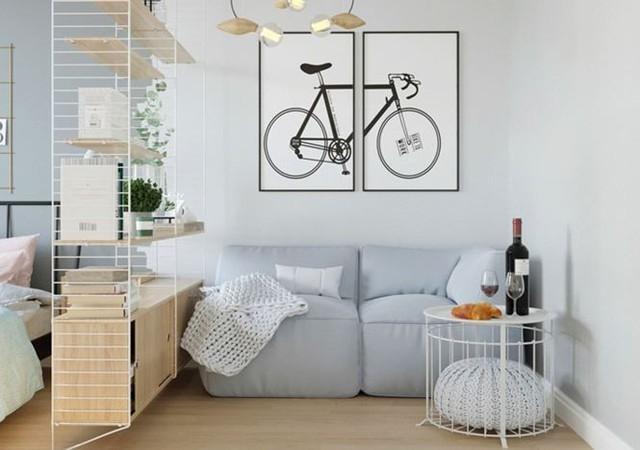 Hô biến căn hộ 30m2 thành không gian sống tiện nghi của đôi vợ chồng trẻ - Ảnh 1.
