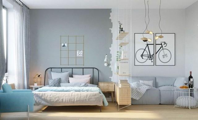 Hô biến căn hộ 30m2 thành không gian sống tiện nghi của đôi vợ chồng trẻ - Ảnh 3.