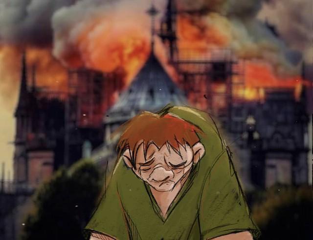 Người dân khắp thế giới đồng loạt chia sẻ những bức vẽ cầu nguyện cho Nhà thờ Đức Bà Paris sau vụ cháy - Ảnh 2.