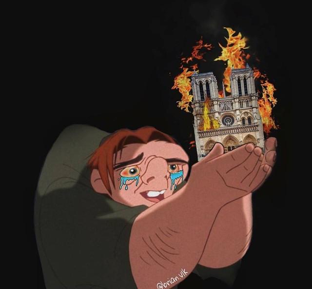 Người dân khắp thế giới đồng loạt chia sẻ những bức vẽ cầu nguyện cho Nhà thờ Đức Bà Paris sau vụ cháy - Ảnh 5.