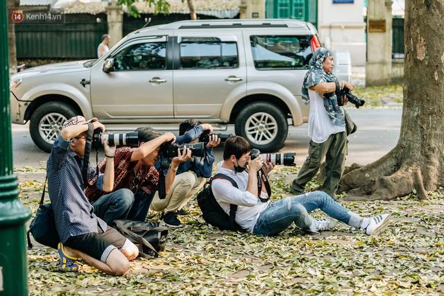 Mùa lá sấu tung bay, người dân kéo tới chụp ảnh ở con đường lãng mạn nhất Thủ đô dù nắng nóng 40 độ C - Ảnh 18.