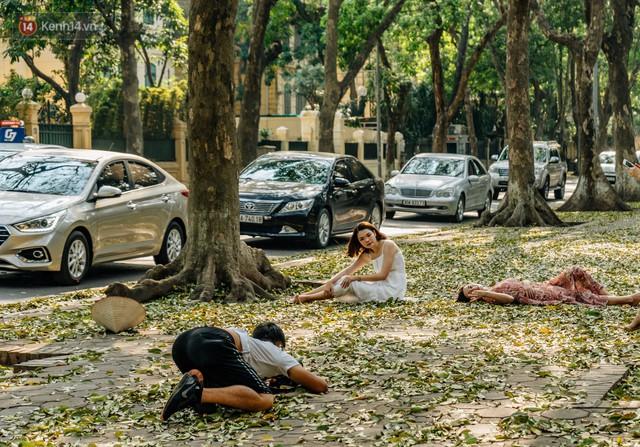 Mùa lá sấu tung bay, người dân kéo tới chụp ảnh ở con đường lãng mạn nhất Thủ đô dù nắng nóng 40 độ C - Ảnh 20.