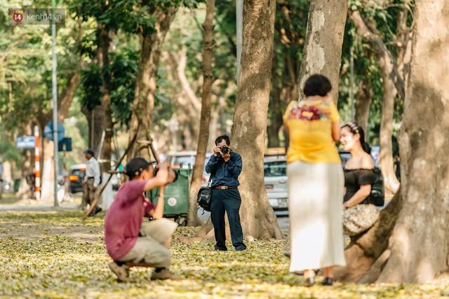 Mùa lá sấu tung bay, người dân kéo tới chụp ảnh ở con đường lãng mạn nhất Thủ đô dù nắng nóng 40 độ C - Ảnh 22.