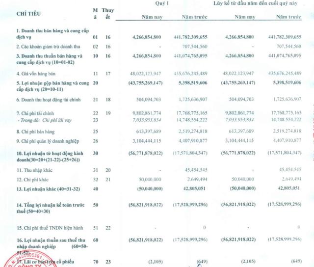 Do vẫn bị Thành phố Đà Nẵng đình chỉ sản xuất, Thép Dana – Ý (DNY) báo lỗ 57 tỷ đồng trong quý 1 - Ảnh 1.