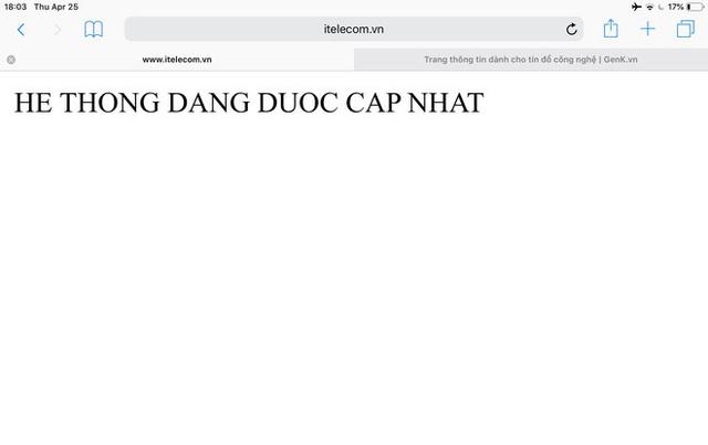 [Cập nhật] Vừa ra mắt được vài tiếng, website của nhà mạng ITelecom đã bị hack - Ảnh 2.