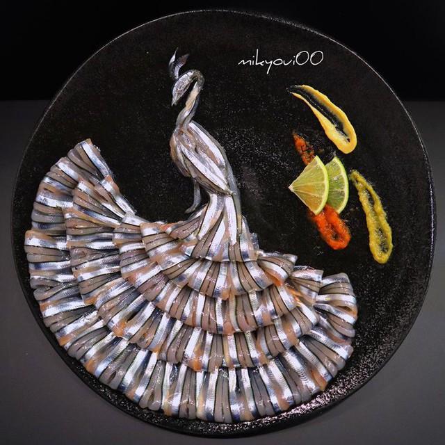 Nghệ thuật sashimi Nhật Bản độc đáo đến mức nhìn thoáng qua không ai nghĩ tác phẩm này được làm từ cá - Ảnh 4.