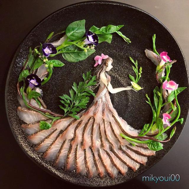 Nghệ thuật sashimi Nhật Bản độc đáo đến mức nhìn thoáng qua không ai nghĩ tác phẩm này được làm từ cá - Ảnh 8.
