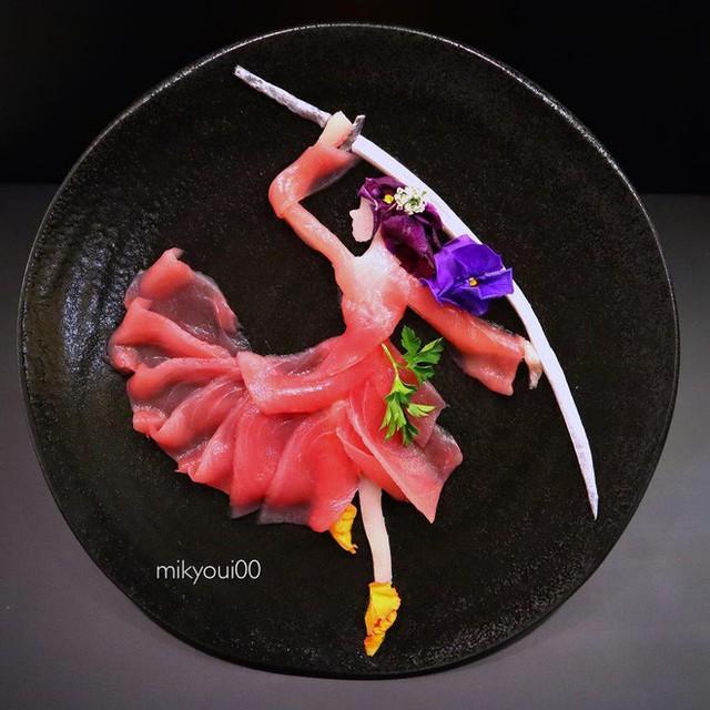 Nghệ thuật sashimi Nhật Bản độc đáo đến mức nhìn thoáng qua không ai nghĩ tác phẩm này được làm từ cá - Ảnh 9.