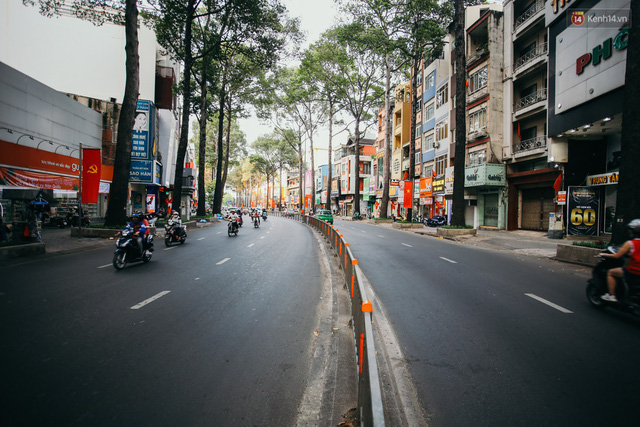 Sài Gòn bình yên lạ thường, đường phố vắng bóng phương tiện trong những ngày nghỉ lễ 30/4 - 1/5 - Ảnh 15.
