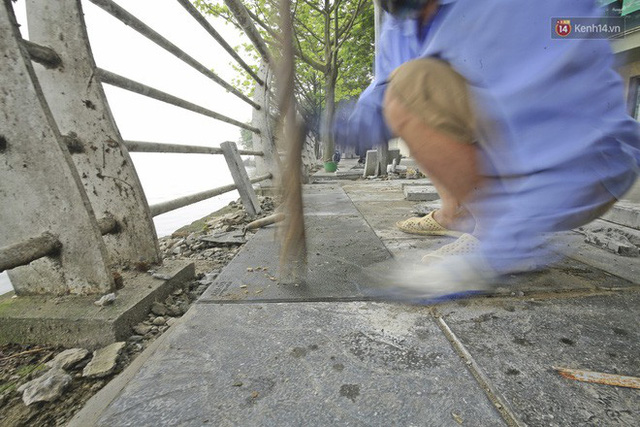 Hơn 100 tuyến phố tại Hà Nội đang được lát gạch bê tông vân đá - Ảnh 7.