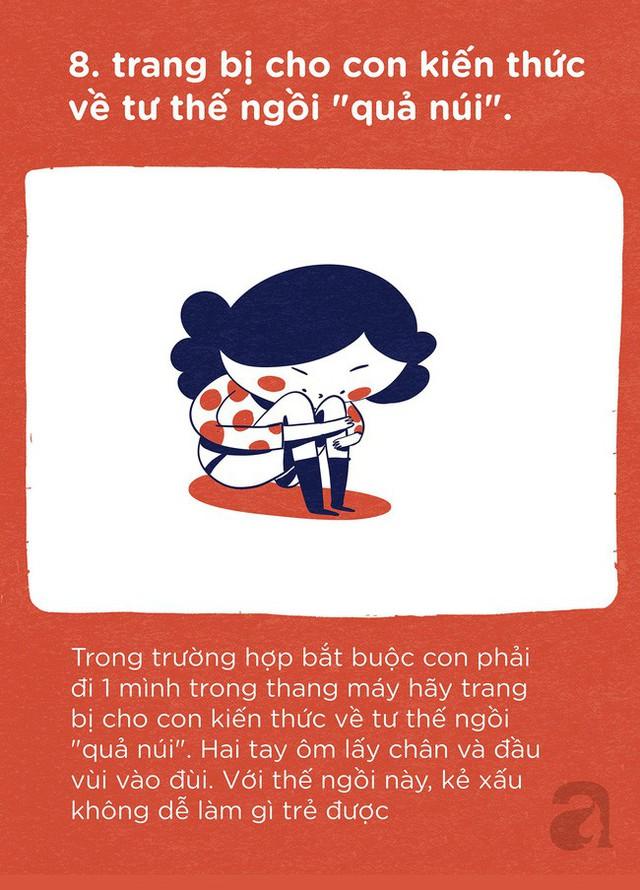Trọn bộ bí kíp tự bảo vệ mình: Trang bị ngay cho con để trẻ có thể tự bảo vệ mình ở bất cứ đâu và bất cứ hoàn cảnh nào - Ảnh 8.