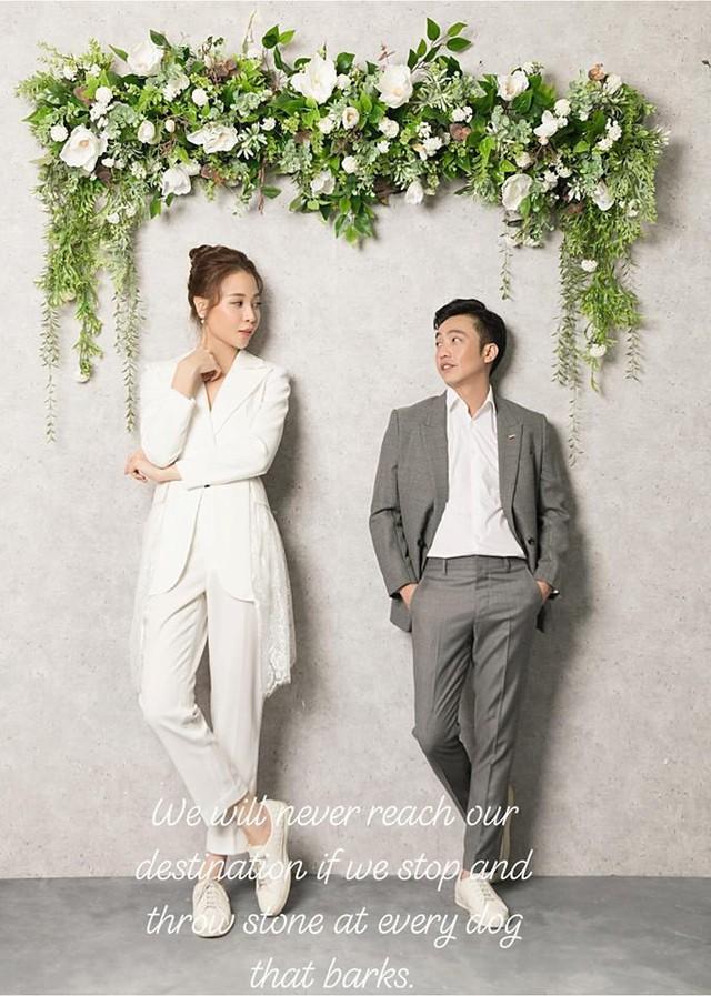 Doanh nhân Nguyễn Quốc Cường chính thức tiết lộ ảnh cưới với Đàm Thu Trang cùng lời nhắn gửi cực tình cảm - Ảnh 1.