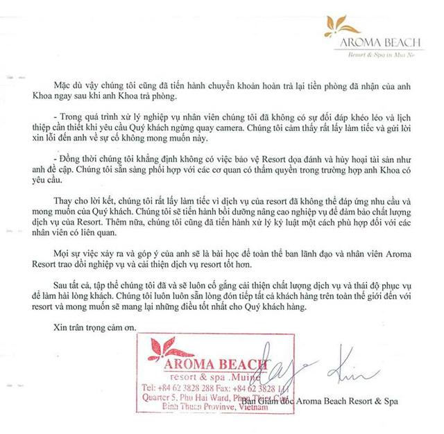 Resort Aroma phản hồi chính thức về việc bị tố lừa đảo, đe dọa Khoa Pug: Sự hiểu lầm trong giao tiếp không mong muốn - Ảnh 4.