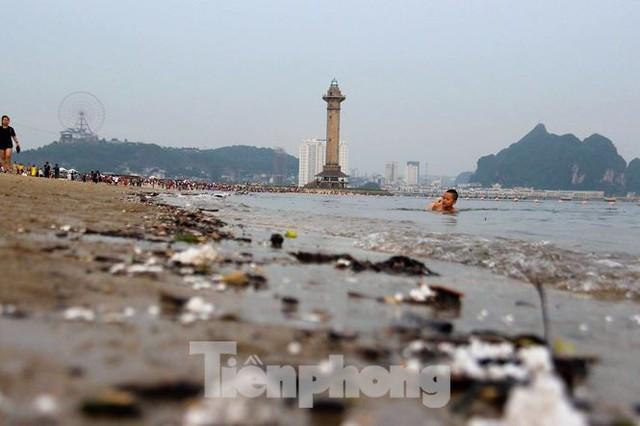 Trẻ ngụp lặn bơi trong rác biển ở Hạ Long - Ảnh 5.