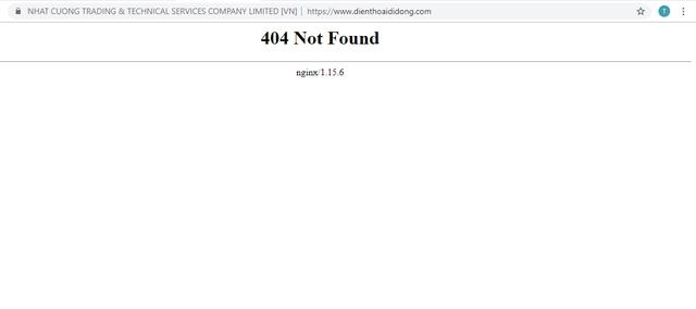 Website của Nhật Cường Mobile đồng loạt biến mất trên internet - Ảnh 1.