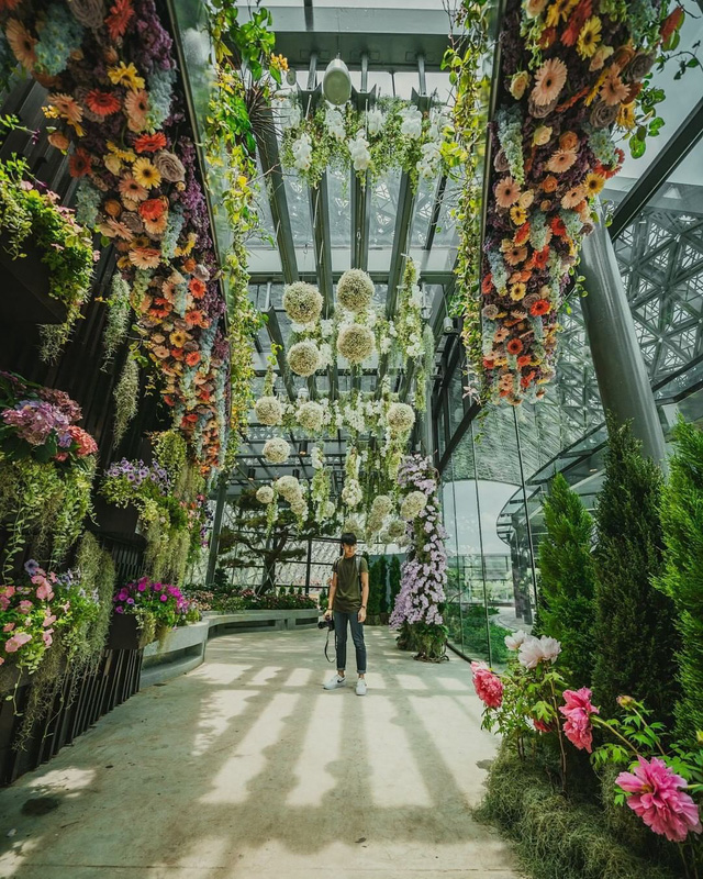 """Sau Jewel Changi, Singapore lại có thêm """"kỳ quan"""" vườn hoa treo khổng lồ khiến dân tình phải ngước lên """"mỏi cả cổ"""" để ngắm nhìn - Ảnh 4."""