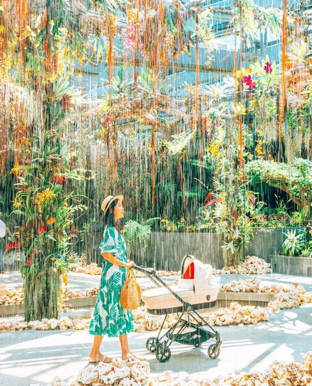 """Sau Jewel Changi, Singapore lại có thêm """"kỳ quan"""" vườn hoa treo khổng lồ khiến dân tình phải ngước lên """"mỏi cả cổ"""" để ngắm nhìn - Ảnh 24."""