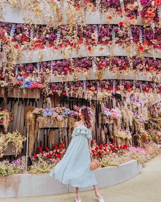 """Sau Jewel Changi, Singapore lại có thêm """"kỳ quan"""" vườn hoa treo khổng lồ khiến dân tình phải ngước lên """"mỏi cả cổ"""" để ngắm nhìn - Ảnh 7."""