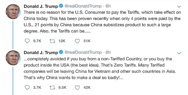 Phía sau những dòng Tweet của Tổng thống Trump và cơ hội cho Việt Nam - Ảnh 1.