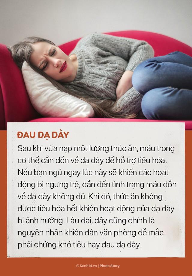 Ngoài việc khiến bạn tăng lượng mỡ thừa, nằm ngủ ngay sau khi ăn trưa còn có những tác hại này - Ảnh 1.