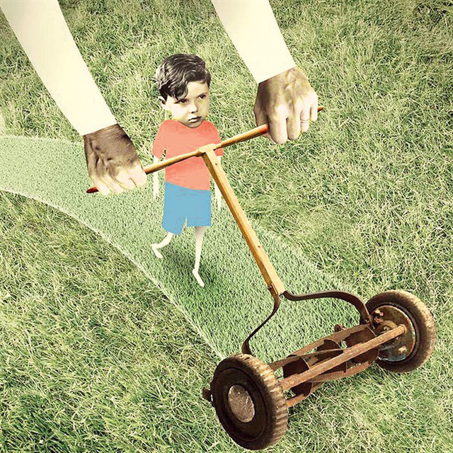 Kiểu cha mẹ máy xén cỏ luôn loại bỏ trở ngại cho con: Mục đích không xấu nhưng hệ lụy khôn lường - Ảnh 1.