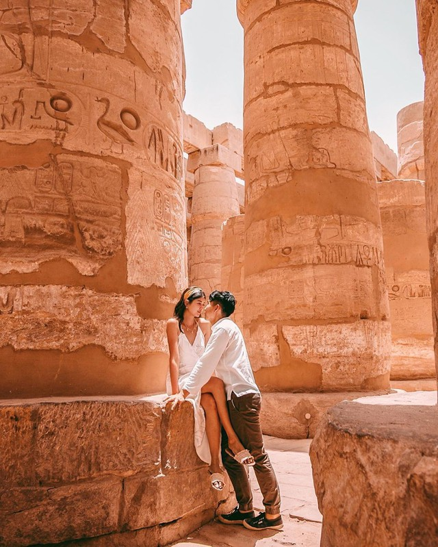 Đền Karnak: Bảo tàng ngoài trời lớn nhất thế giới, khiến giới blogger du lịch mê mẩn khi đặt chân đến Ai Cập - Ảnh 3.