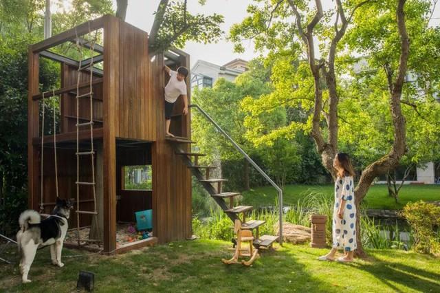 Mong muốn con sống một đời bình an, người mẹ trẻ rời thành phố về ngoại ô xây nhà vườn rộng 1000m² với bể bơi và cây xanh đẹp như mơ  - Ảnh 3.