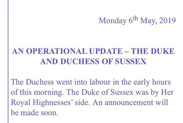 Cung điện hoàng gia xác nhận: Meghan đã sinh con đầu lòng, giới tính em bé nằm ngoài dự đoán của người hâm mộ - Ảnh 3.