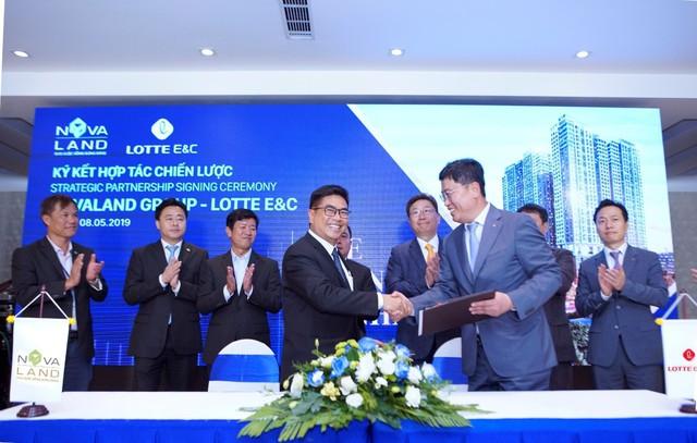 Lotte E&C hợp tác chiến lược với Novaland, làm nhà thầu chính của 3 dự án tại TP.HCM - Ảnh 1.