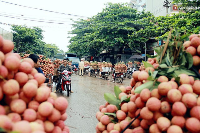 Chùm ảnh: Người dân Bắc Giang ùn ùn đi bán vải, đường phố ùn tắc hàng km - Ảnh 10.