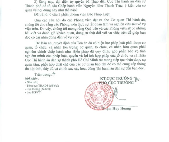 Cục THADS nói về vụ bà Thảo không trả con dấu cho Trung Nguyên - Ảnh 1.