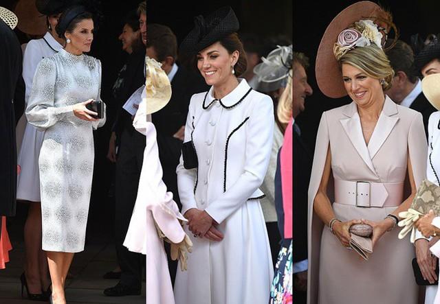 Cuộc đọ sắc có 1-0-2: Ba biểu tượng sắc đẹp của hoàng gia thế giới xuất hiện cùng nhau, Công nương Kate kém sắc nhất, chịu lép vế trước U50 - Ảnh 2.