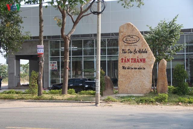 """Cưỡng chế công trình """"Khu dân cư Alibaba Tân Thành"""" - Ảnh 1."""