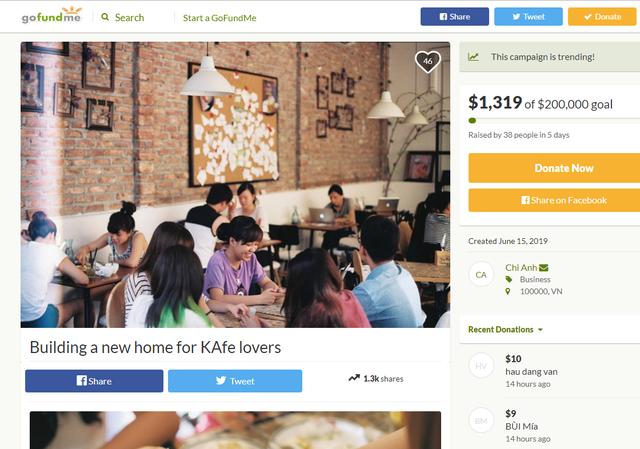 5 ngày Đào Chi Anh gọi vốn cộng đồng được hơn 1.300 USD để mở lại The Kafe: Những người ủng hộ sẽ nhận lại được gì? - Ảnh 1.