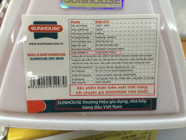 Ma trận tem mác trên sản phẩm Sunhouse và câu chuyện ám thị xuất xứ - Ảnh 2.