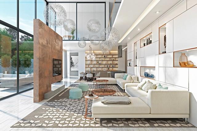 Những phòng khách sang trọng với cách thiết kế, trang trí độc đáo - Ảnh 5.