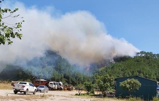 Toàn cảnh vụ cháy rừng thông lớn nhất Hà Tĩnh, di dời tài sản cả trăm hộ dân - Ảnh 1.