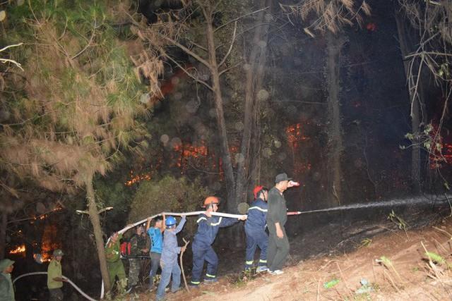 Toàn cảnh vụ cháy rừng thông lớn nhất Hà Tĩnh, di dời tài sản cả trăm hộ dân - Ảnh 16.