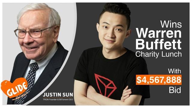 Danh tính người trả 4,5 triệu USD cho bữa trưa với Warren Buffett: Doanh nhân 29 tuổi người Trung Quốc, nhà sáng lập 1 trong 10 đồng tiền số lớn nhất thế giới - Ảnh 2.