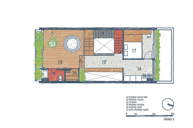 [Ảnh] Ngôi nhà ống 3 tầng có thiết kế lạ, độc đáo ở TP HCM - Ảnh 4.
