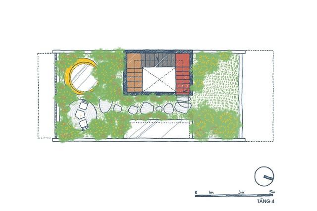 [Ảnh] Ngôi nhà ống 3 tầng có thiết kế lạ, độc đáo ở TP HCM - Ảnh 5.
