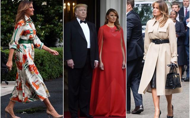 Đỉnh không kém ái nữ của chồng, bà Melania Trump