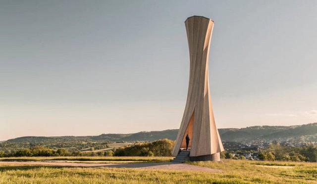 Độc đáo tòa tháp hình xoắn ốc được làm từ gỗ đầu tiên trên thế giới, không cong vênh, bền chắc không kém bê tông - Ảnh 9.