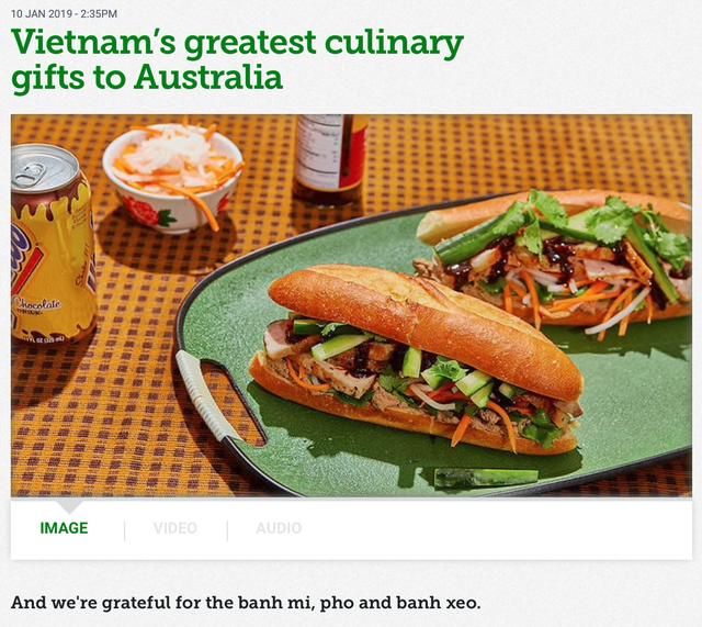 Truyền thông Úc gọi tên những món quà ẩm thực tuyệt vời mà Việt Nam đã mang đến đất nước của mình - Ảnh 1.