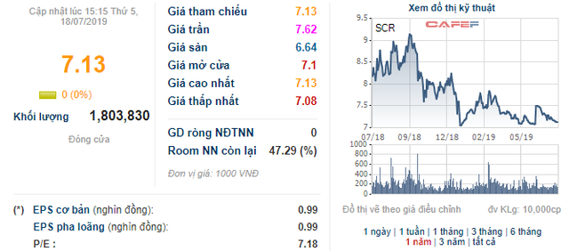 XNK Bến Tre vừa bán bớt 7 triệu cổ phiếu SCR - Ảnh 1.